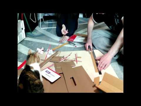 видео: Полка из картона, своими руками