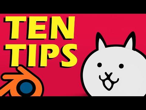 10 Key Tips for Blender Beginners (Blender 2.8 Tips)