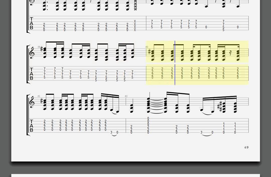 Metallica Turn The Page James Guitar Tablature Youtube