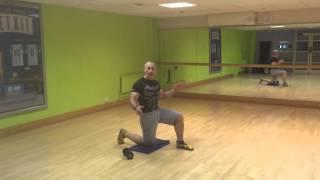 Exercise of the day - Half Kneeling Shoulder press