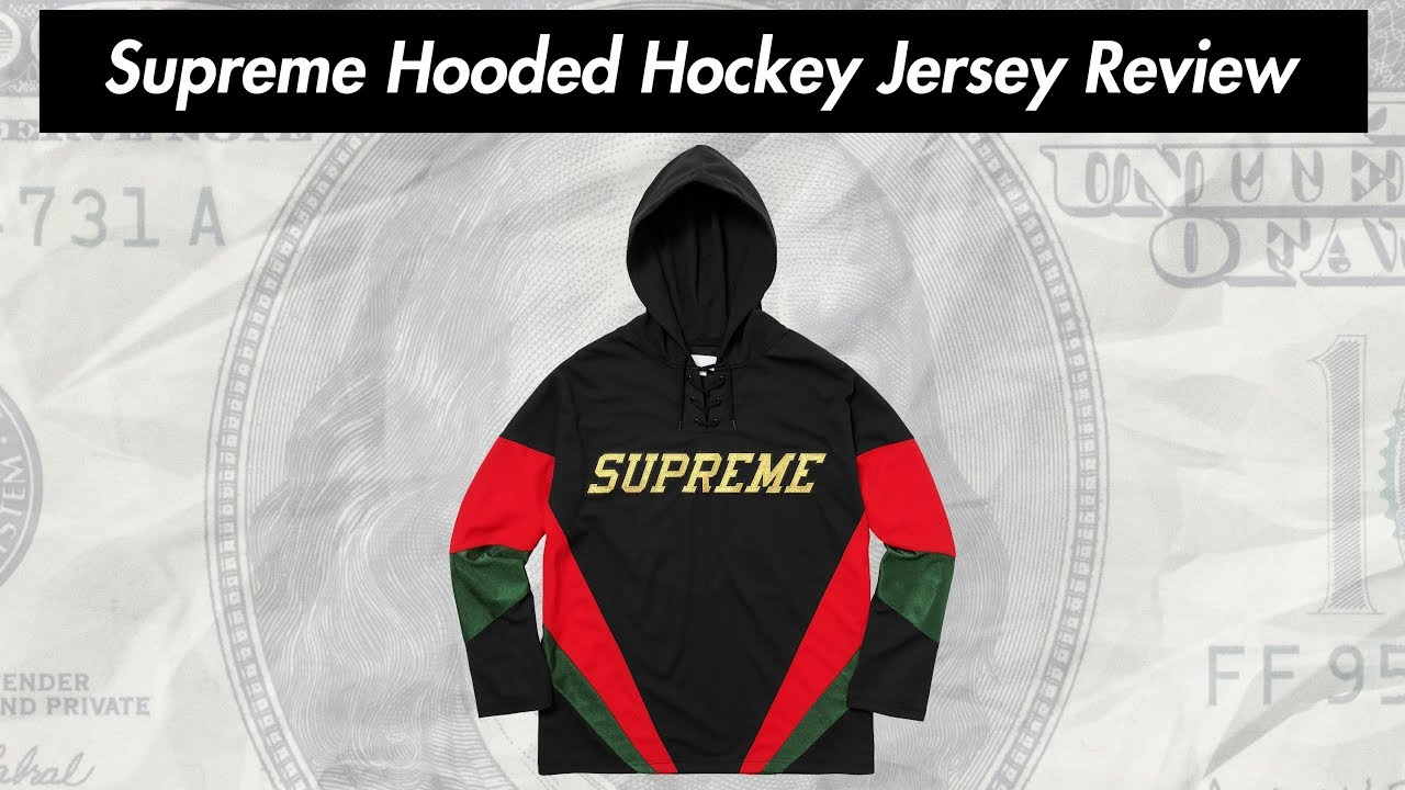 Supreme Hooded Hockey Jersey 17fw