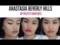 Anastasia Beverly Hills Lip Palette Swatches