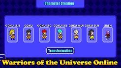 Transformation GOKU SSJ3,4,GOD,BLUE,MUI | 🎮 Warriors of the Universe Online APK 🎮 | Animugen2048