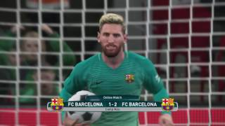Messi Fantastic Penalty kick PES 2017 !