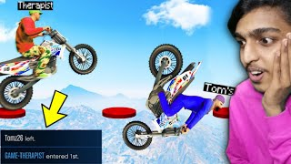 GTA 5 : Stunt Race Gone Wrong and TOM'S LEFT GAME 😭 !! MALAYALAM
