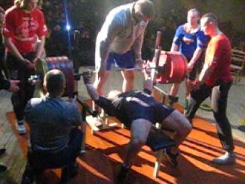 Чемпионат брестской области по жиму 2016 год. Дмитрий Шашков 300 кг.