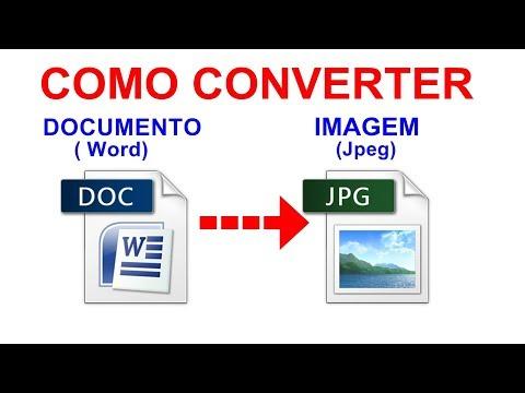 Como Converter WORD Em JPEG