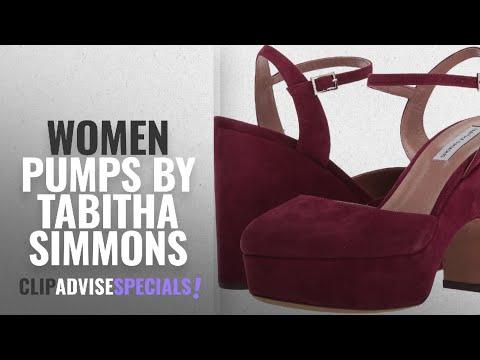Top 5 Tabitha Simmons Women Pumps [2018]: Tabitha Simmons Women's Maya Burgundy Kid Suede 36.5 B EU