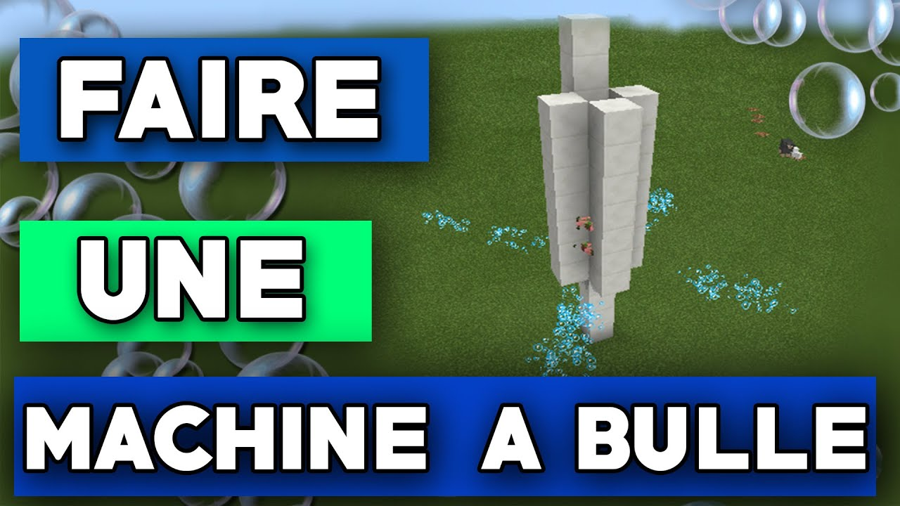 minecraft faire une machine a bulles youtube. Black Bedroom Furniture Sets. Home Design Ideas