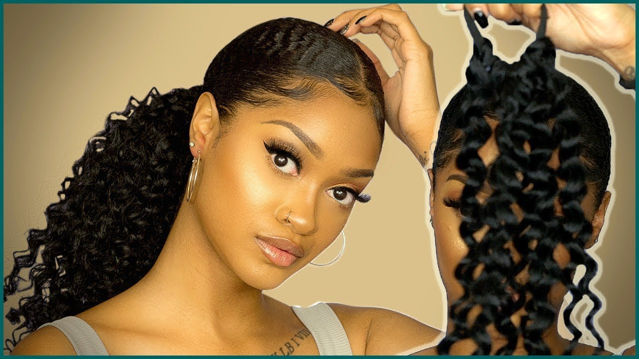 life changing! sleek ponytail with extensions hack on type 4 natural hair