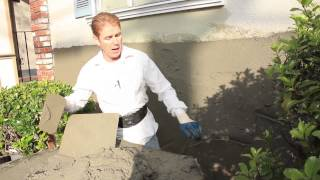 Easy instructions how to plaster an outside wall, complete details