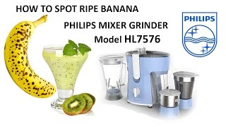 Banana and Kiwi Smoothie, In Philips Mixer Juicer HL7576 Review
