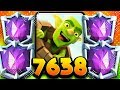 DOMINATING TOP LADDER w/ VALKYRIE LOG BAIT! 7,600+ TROPHIES!