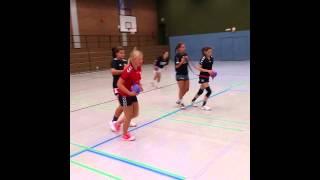Handballtraining :Schnellkraft: Angriffsbewegung mit dem Deuserband