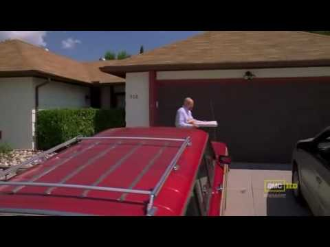 Walter White Throws A Party Pizza On The Roof Youtube
