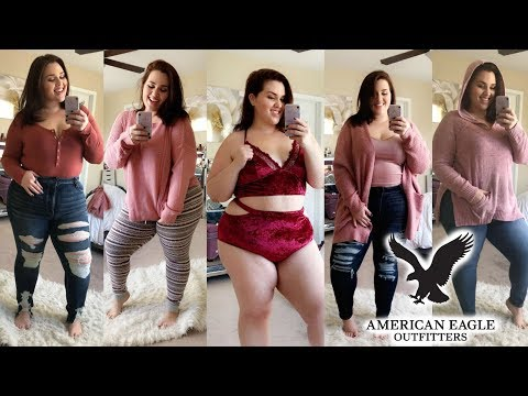 HUGE FALL American Eagle Try-On Haul |Plus Size Fashion|