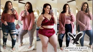 huge fall american eagle try on haul plus size fashion