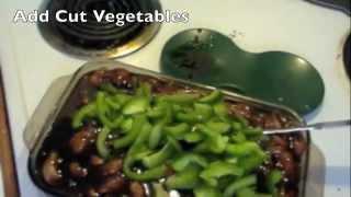 Making Teriyaki Chicken Strips Dinner