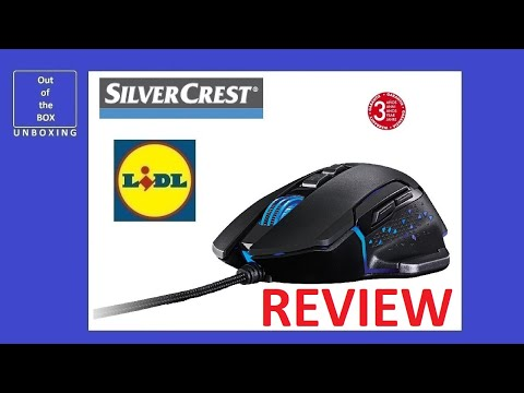 SilverCrest Gaming Mouse SGM 4000 A1 REVIEW (Lidl 6 LED 6  DPI 4000DPI)