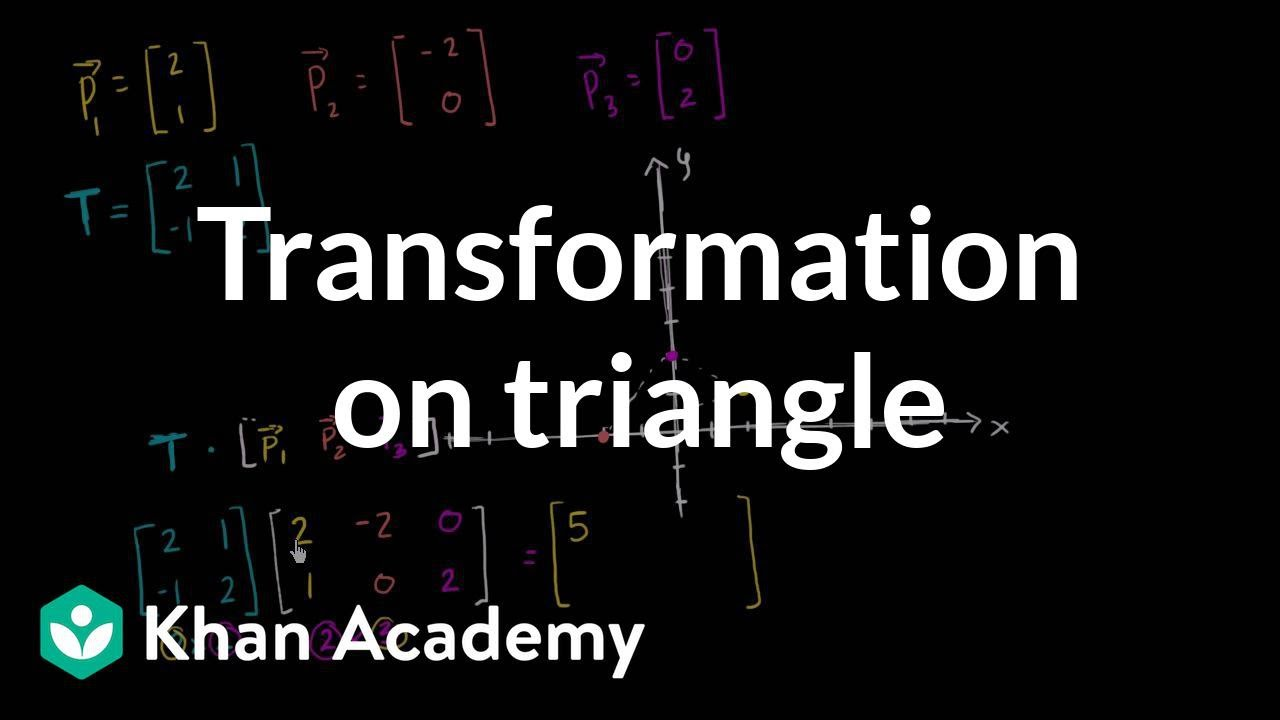 Transforming polygons using matrices (video) | Khan Academy