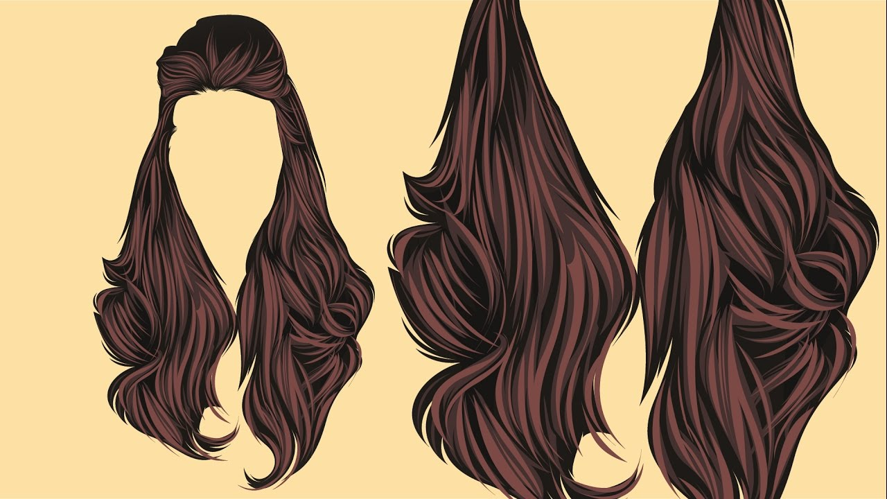 vector hair adobe illustrator
