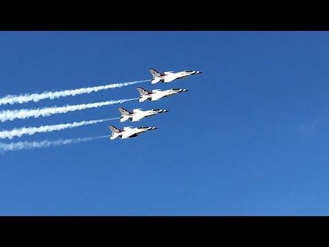 USAF Thunderbirds at 2017 Tico Warbird Airshow - Titusville, FL - 11-Mar-2017