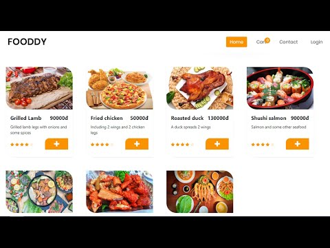 Javascript - Project Shopping Cart Food - Source code - Free Download