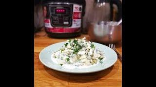 Вкусный салат на каждый день Деревенский со сметанным соусом