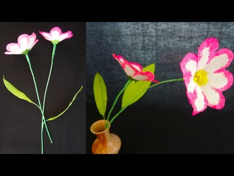 How To Make Tissue Paper Flowers Easy Paper Flowers Making Step By