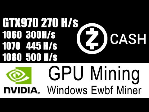 EWBF Nvidia ZCASH Miner - Setup & Tested on GTX970
