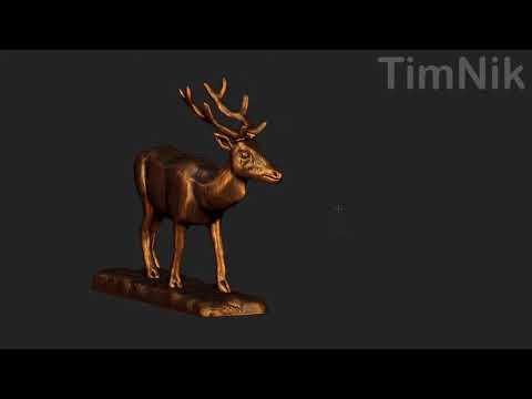 Deer Sculpture 3D Model in ZBrush