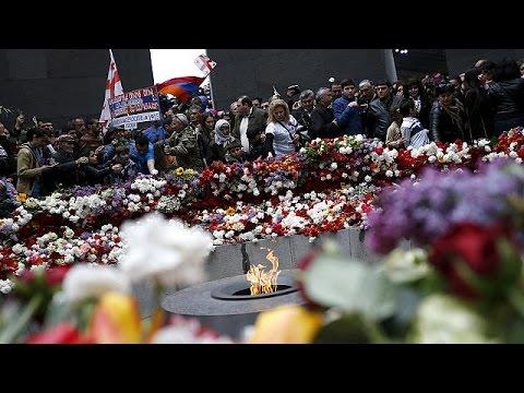 Армения почтила память жертв массовых убийств 1915 г.