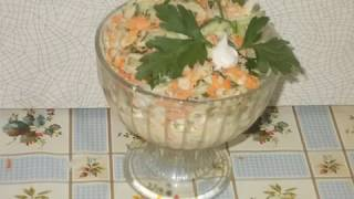 салат из редьки с морковью и свежим огурцом