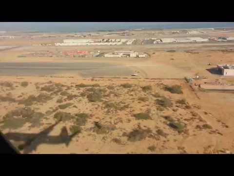Beautiful Landing in Muscat International Airport Oman Airways