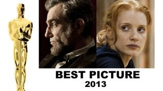 Oscars 2013 Best Picture : Lincoln, Zero Dark Thirty, Silver Linings Playbook, Life of Pi
