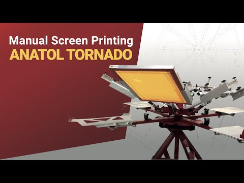 Manual Screen Printing On An Anatol Tornado