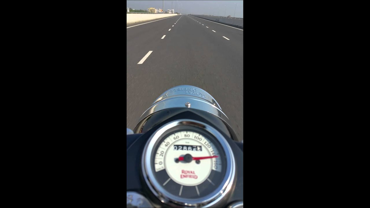 Royal Enfield Classic 500 Top Speed Check Youtube