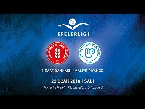2017-2018 / Efeler Ligi 16. Hafta / Ziraat Bankası 0 - 3 Maliye Piyango