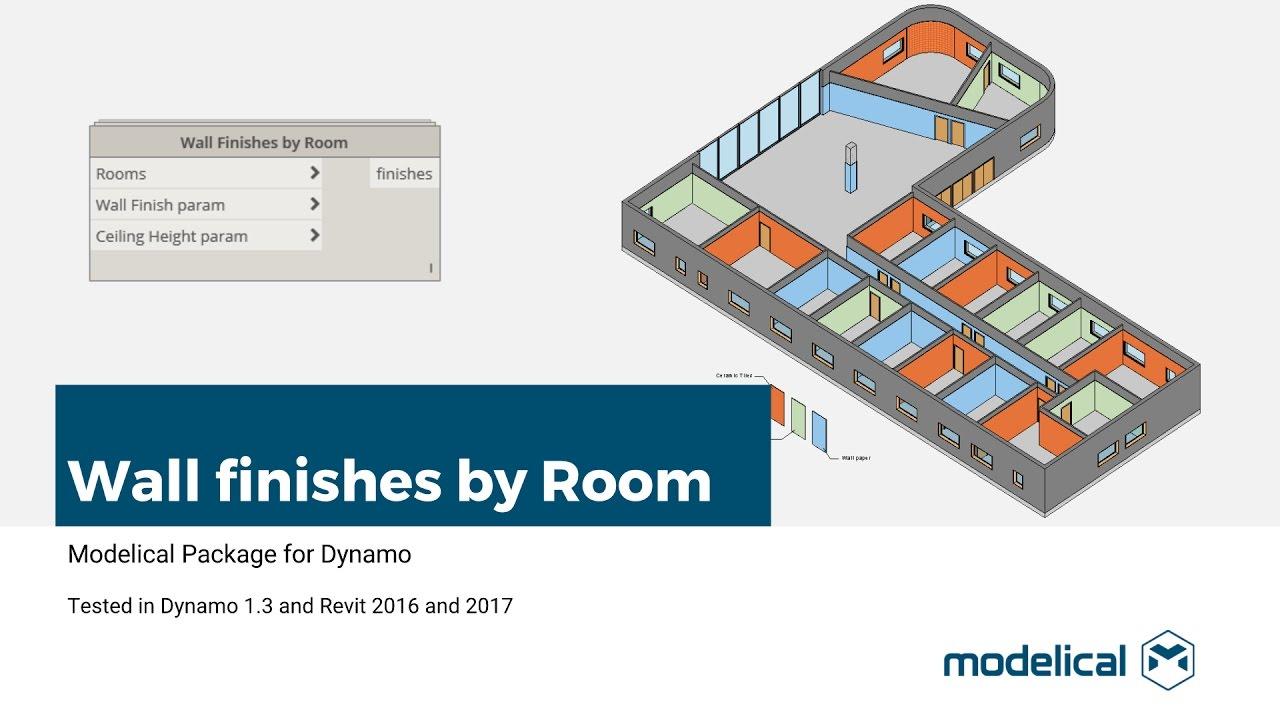 Wallfinishesbyroom Automatic Modeling Of Finishes Modelical