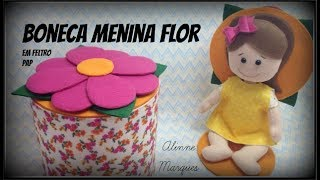 Boneca Menina Flor – PAP