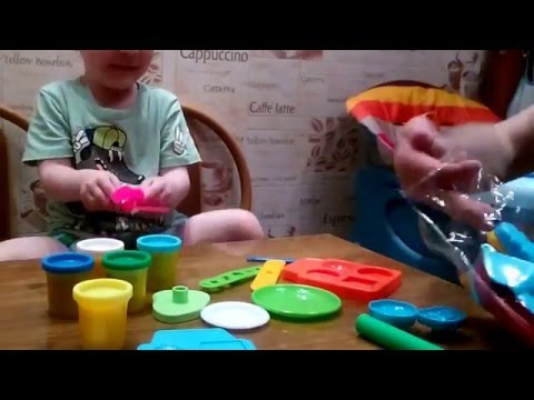 Распаковка Learn&play SnackBar: Лепим из пластилина Plasticine magical