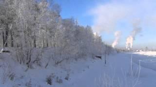 Ледостав Енисей 28 января 2014 Лесосибирск