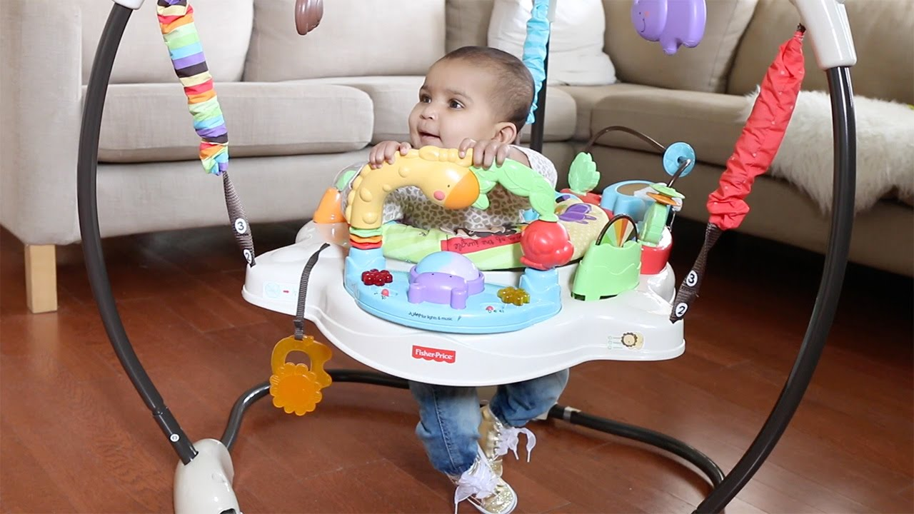 599a883cfd5d Fisher Price Luv U Zoo Jumperoo - YouTube