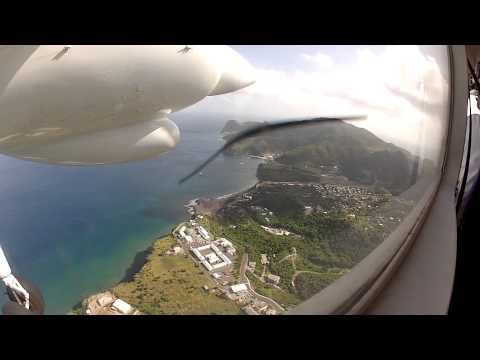 Osborne Airfield (TRPG) approach on Air Montserrat Britten-Norman BN2 Islander