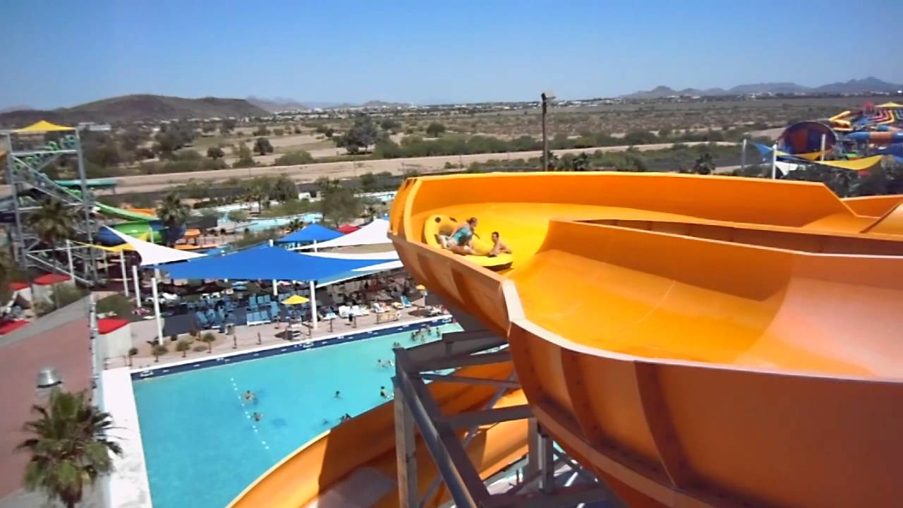 The Mammoth Falls Ride At Wet N Wild Youtube