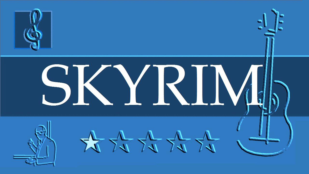 Acoustic Guitar Tab The Elder Scrolls Morrowind Skyrim Sheet