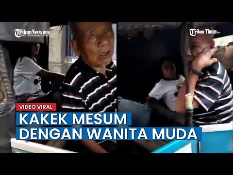 VIRAL Video Kakek Terciduk Mesum dengan Wanita Muda di Dalam Bajaj