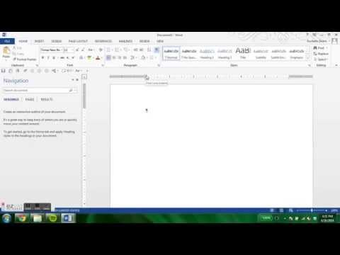 An Introduction to Dissertation Formatting in Word 2013