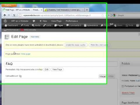 WordPress: How To - Add Sample Pages