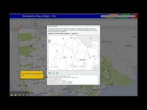 eMap - Navigating the map Via MGRS Coords (no narration)
